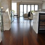 "SapeleClient: Owner / Knight Const.Location: Belmont Shores, LBProject Size: 1900 s/f & Stair caseSub Straight: Gypcrete over radiant heatWood Description: Engineered, ¾"" x 6"" SapeleWood Finish: Custom color, Bona Traffic waterborne finish"