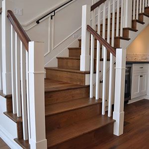 Indoor Wood Staircase Installation